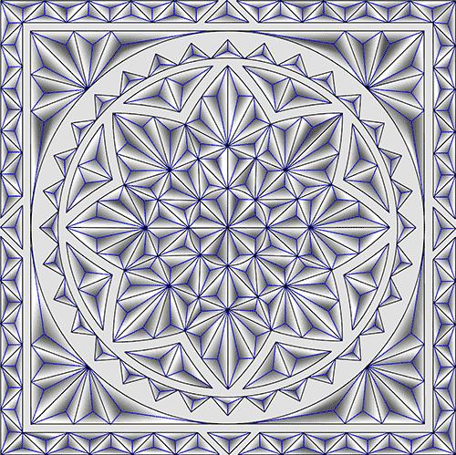 Rosette Chip Carving Pattern 97 #Middle Beginner Carver