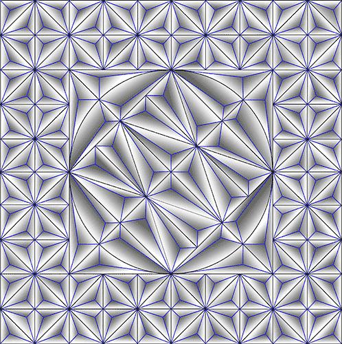 Rosette Chip Carving Pattern 98 #Middle Beginner Carver