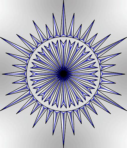 Rosette Chip Carving Pattern 99 #Middle Beginner Carver