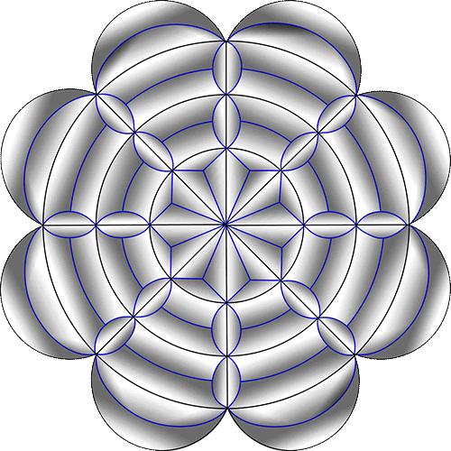 Rosette Chip Carving Pattern 59 #Middle Beginner Carver