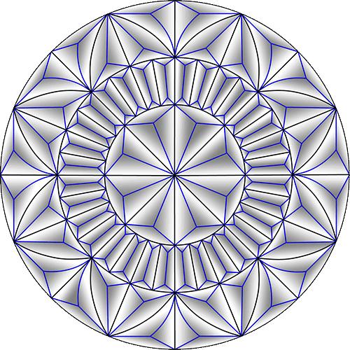Rosette Chip Carving Pattern 61 #Middle Beginner Carver