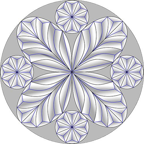 Rosette Chip Carving Pattern 63 #Middle Beginner Carver