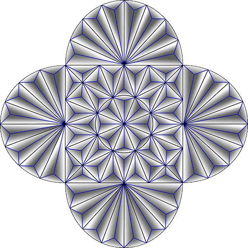Rosette Chip Carving Pattern 65 #Middle Beginner Carver