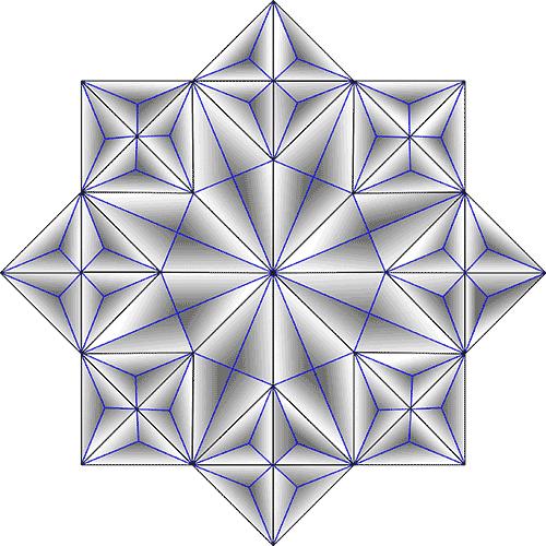 Rosette Chip Carving Pattern 44 #Middle Beginner