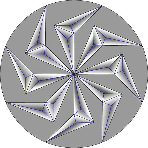 Rosette Chip Carving Pattern 47 #Beginner Carver