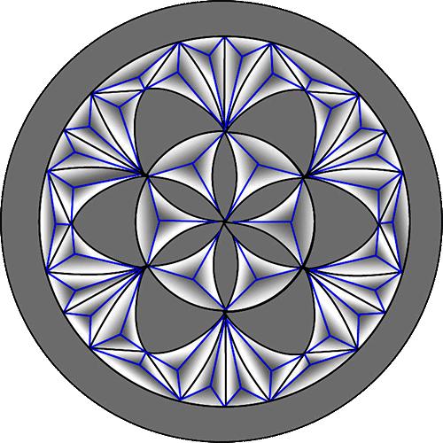 Rosette Chip Carving Pattern 16 #Advanced Beginner Carver