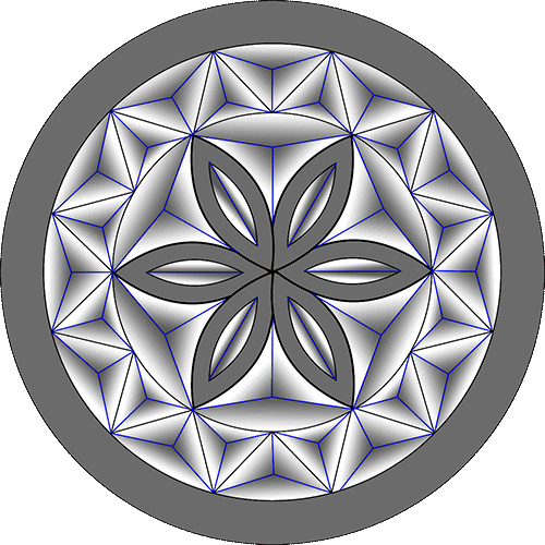 Rosette Chip Carving Pattern 19 #Middle Beginner Carver