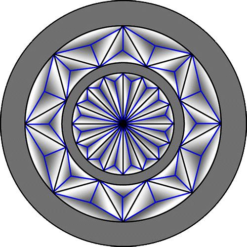 Rosette Chip Carving Pattern 33 #Advanced Beginner Carver