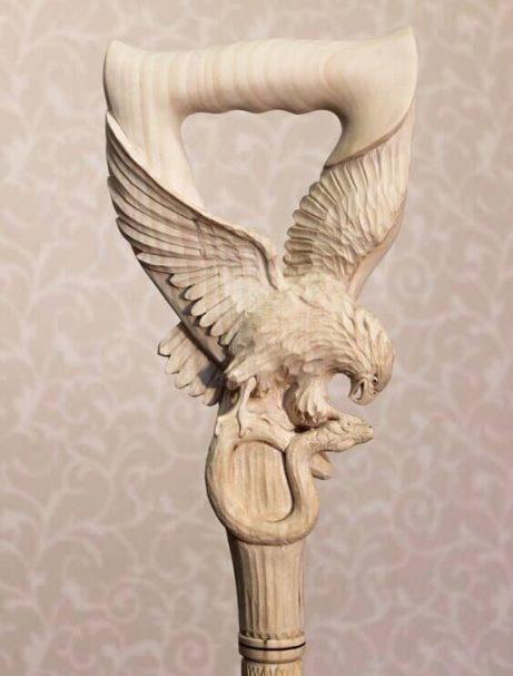 "Drewniana rączka w kształcie orła Author - <a href=""https://vk.com/artwoodbg"" rel=""nofollow"">Art WoodCarving</a>"
