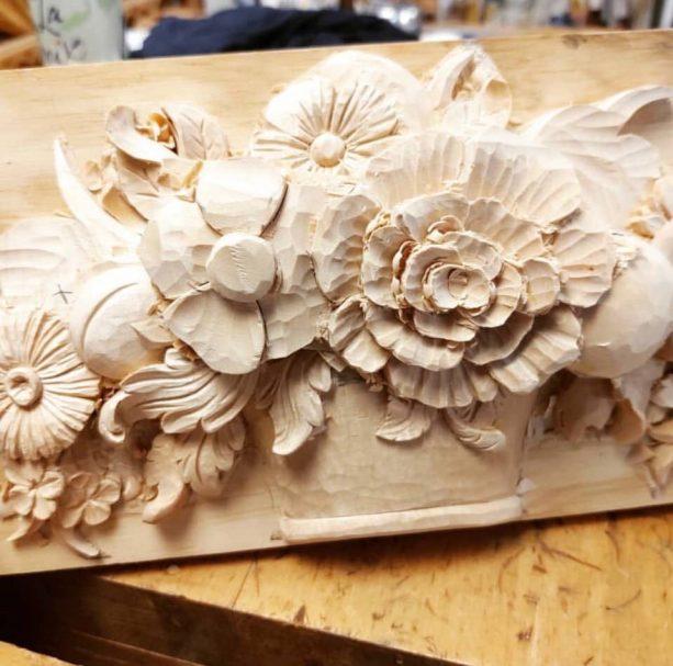"""Blumen Holzschnitzerei Projekt Author - <a href=""""https://vk.com/artwoodbg"""" rel=""""nofollow"""">Art WoodCarving</a>"""