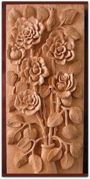 """Blumen Reliefschnitzerei Author - <a href=""""https://vk.com/rezba_nsk"""" rel=""""nofollow"""">Wood Sculptor</a>"""