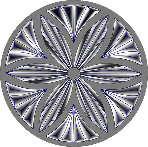 Rosette Chip Carving Pattern 13 #Advanced Beginner Carver