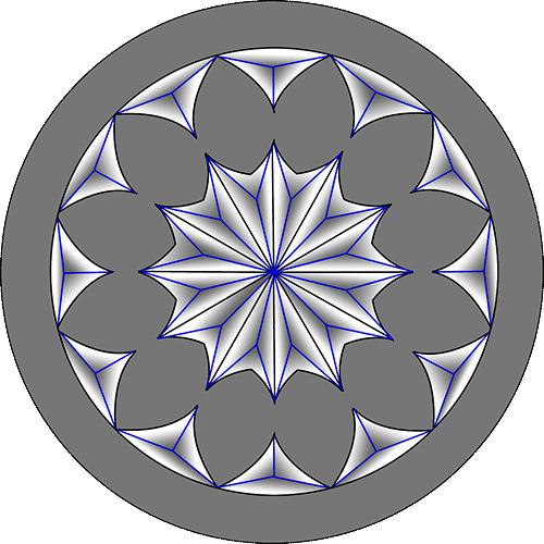 Rosette Chip Carving Pattern 36 #Advanced Beginner Carver
