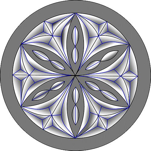 Rosette Chip Carving Pattern 20 #Middle Beginner Carver