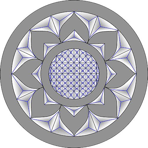 Rosette Chip Carving Pattern 34 #Advanced Beginner Carver