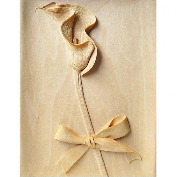 "Relief geschnitzt Сalla Blume  Author - <a href=""https://vk.com/artwoodbg"" rel=""nofollow"">Art WoodCarving</a>"