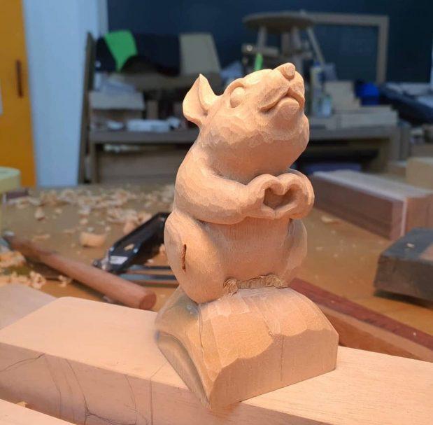 "Holzschnitzerei kleine Skulptur Author - <a href=""https://vk.com/artwoodbg"" rel=""nofollow"">Art WoodCarving</a>"