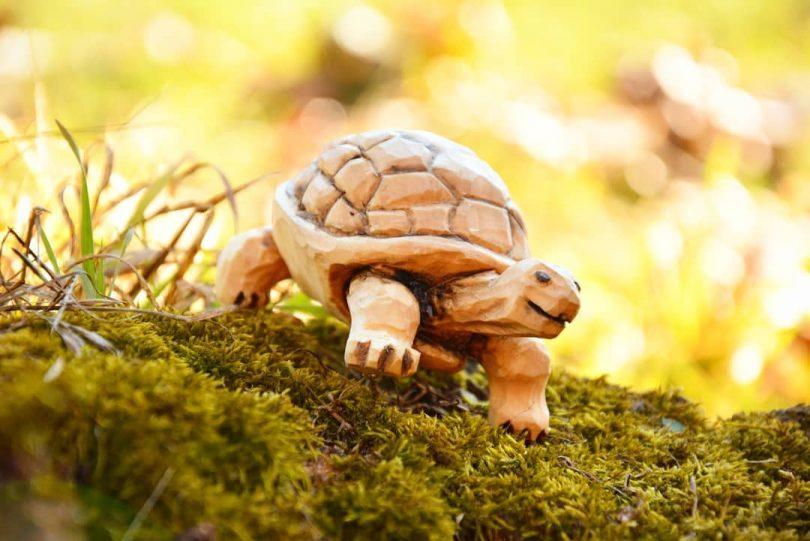 """Rzeźba drewniana żółw Author - <a href=""""https://www.instagram.com/piowood/"""" rel=""""nofollow"""">Beardly Woodcarver</a>"""