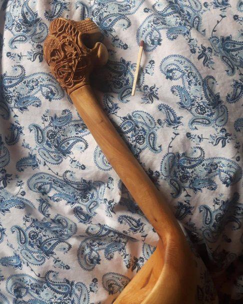 """Łyżka jest rzeźbiona w stylu nordic Author - <a href=""""https://www.instagram.com/cookingbyperkele/"""" rel=""""nofollow"""">Kai Tikkunen - Wild Game Cook</a>"""