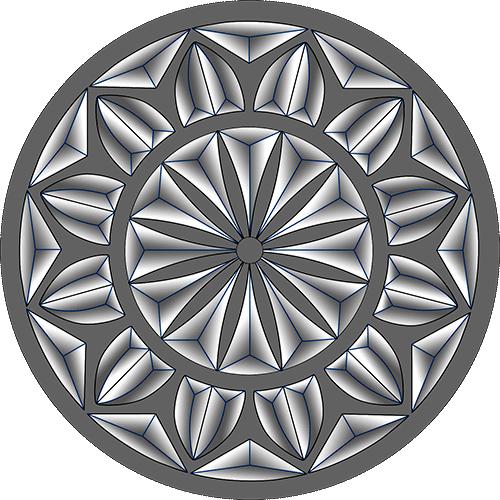 Rosette Chip Carving Pattern 2 #Middle Beginner Carver