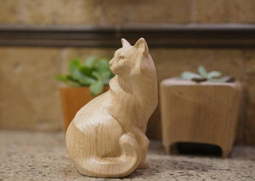 "A Wooden Cat Sculpture Author - <a href=""https://www.hauspanther.com/"" rel=""nofollow"">hauspanther</a>"