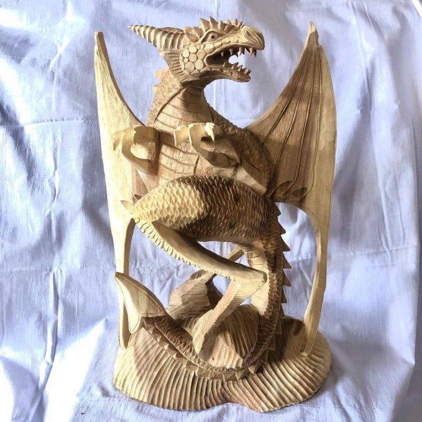 "Naga. Material Suar Wood Author - <a href=""https://www.instagram.com/metri_woodcarver/"" rel=""nofollow"">BALI WOOD CARVER</a>"