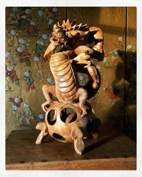 """1800's Carved Teak Dragon Sculpture Author - <a href=""""https://www.instagram.com/michal_pasco/"""" rel=""""nofollow"""">Michal Pasco</a>"""