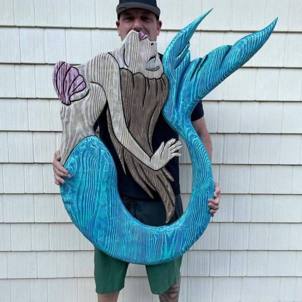 """Wood Carving Mermaid  Author - <a href=""""https://www.instagram.com/rustyanchortrading/"""" rel=""""nofollow"""">Rusty Anchor Trading</a>"""
