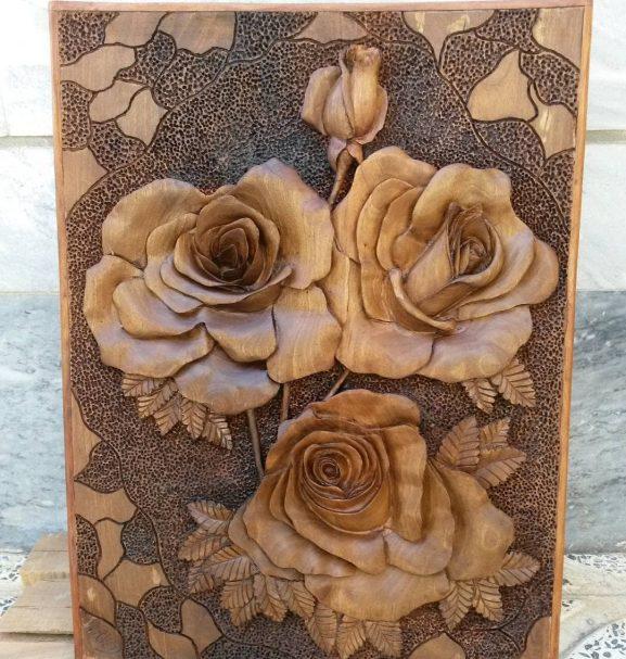 "Rose relief carving Author - <a href=""https://www.instagram.com/navidmashayekhi/"" rel=""nofollow"">navid mashayekhi</a>"
