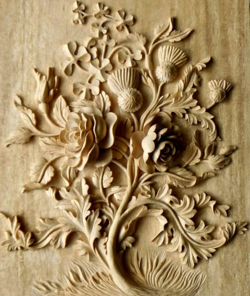 """Wood panel hand-carved Author - <a href=""""https://agrellcarving.com/"""" rel=""""nofollow"""">Agrell Architectural Carving</a>"""