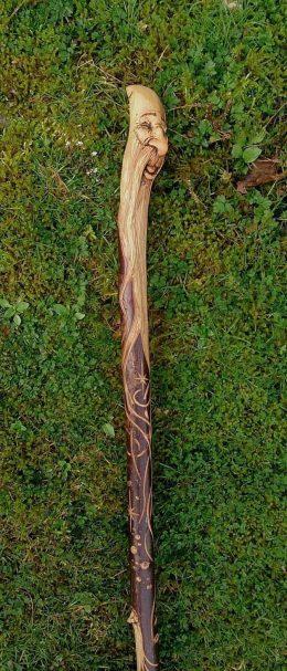 "Carved blackthorn wood spirit staff Author - <a href=""https://www.pinterest.com/pin/70437480086601/"" rel=""nofollow"">Malc Spour</a>"
