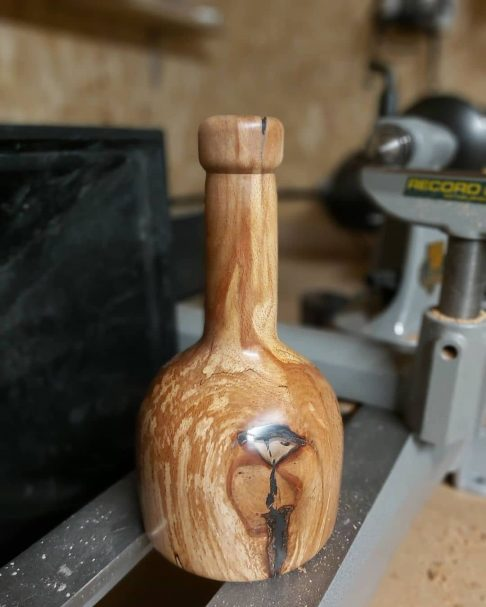 """vase out of  piece of Spalted Ash Author - <a href=""""https://www.instagram.com/williams.work.shop/"""" rel=""""nofollow"""">Will Owen</a>"""